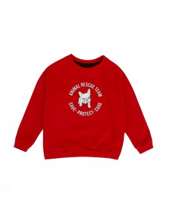 SWEATER// RESCUE TEAM RED